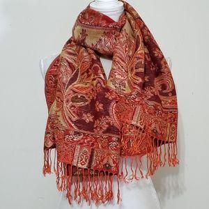 Tasseled Paisley Fashion Scarf